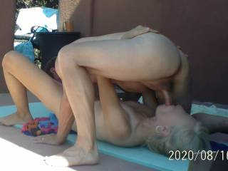 Nude yoga almost always evolves into great sex! I\'m in orgasm in the photo.