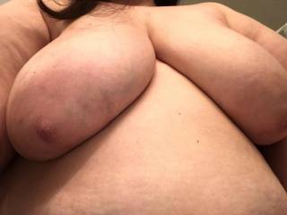 Rest your head on my massive tits.