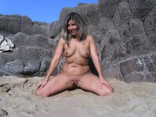 i like to be nude at the beach