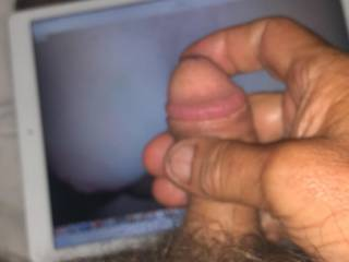 Wanking to my wife pic