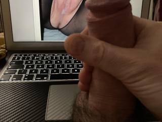 For DHW1, as she never fails to make my cock hard and balls fizz, I wish that was my seed in there too, then you could tell me to eat you clean!