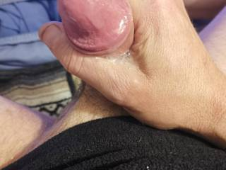 The cum shot a few seconds after cumming... Good load (as you can see!)