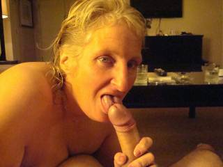 How about Sharing that Beautiful Hard COCK with me? We both can make him CUM in our Mouths and on our Faces...  Love and Kisses, Maryann