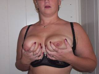 You are super sexy doll and count me in on sucking those beautiful titties for you. If you want a lady Icount me in