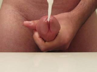 Oh yes.  Mrs H is opening her mouth to pretend to catch you lovely big load. Post more of your cumming - or cum covered cock the Mrs H will keep getting wet & wanting me to finger & fuck her, to bring about the same from my cock which she can enjoy.