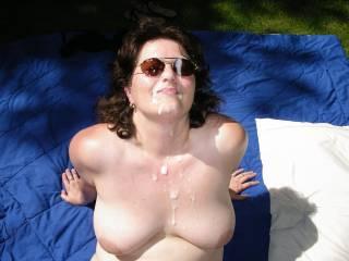 facial in the hot sun