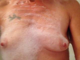 Gorgeous small tits and Big hard nipples ! ! !