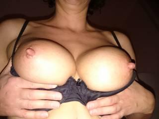 cum over my big nipples