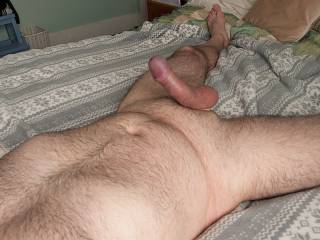 Another warm day here in sunny Sussex, time to chill naked with a nice hardon.