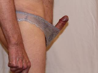 'He' does look very erect, very swollen and totally ready for some fun, if you are interested.