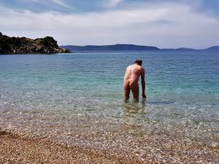 Fist time nude swimming for 2018