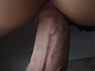 No more room in there . I love how tight my pussy lips wrap round his cock(zoom in) . This cock gets me soaking wet