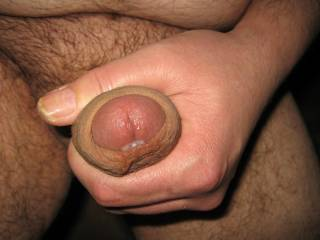 Just shaved with precum