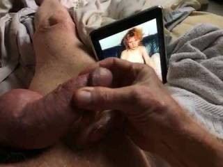 Jerking my cock for sweet Natalie.