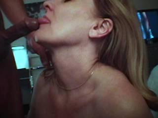 We got another request for a BJ video, so here goes. Hubby dripped a little on my tongue before asking me to keep going and then quickly cumming down my throat. I love sucking cock, and he knows he\'s a lucky man! Should we post the longer version of this?