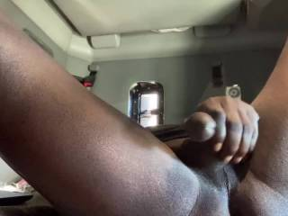 Mmm just relaxing and rubbing my dick