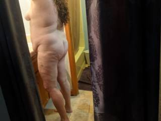 My thick wife getting ready to go out