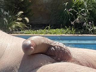 The sun feels lovely on my cock  I bet a lot of others things would as well ?