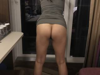 Love her leg gap and hot ass .. so hot  Leave her nasty details on what you would want to do to her