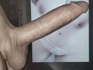Such huge soft round tits deserve a huge stiff powerful cock between them, and pressed into this woman\'s holes as often as she wants it.