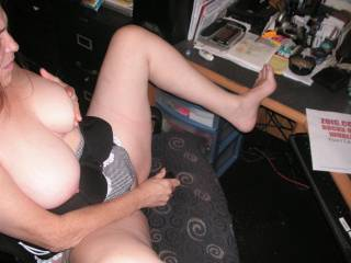 tommie playing with one of her toys as she dose a live chat hope that ever one enjoys i know that we did ...