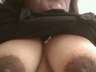 THOSE DARK NIPPLES WOULD GO NICE WITH SUM of my HOT AND THICK WHITE CUM