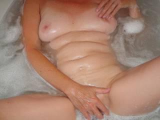 Bath time, getting sqeaky clean.
