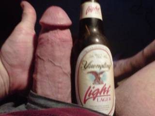 Just a little something to compare for size.....I was told I had a beer bottle size cock - so here it is!