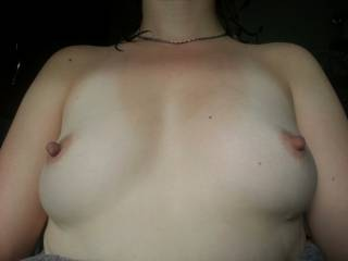 beautiful tits, perfect in size and shape.