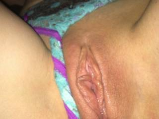 Looks like that pussy is cum hungry.  Let me feed it some more!!