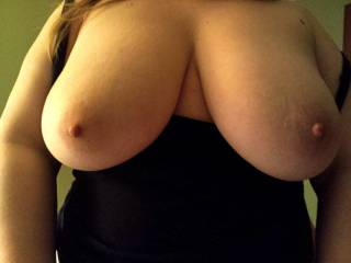 this is what it looks like when she pulls out her tits! Love them