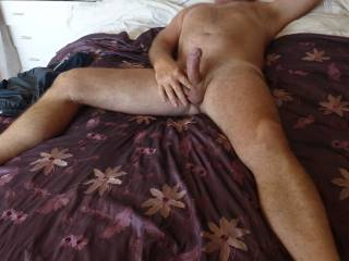 very lickable and suckable cock and balls mmm It would be a pleasure to explore your body in all ways together with your Mrs - would be good fun for all don't you think? :)