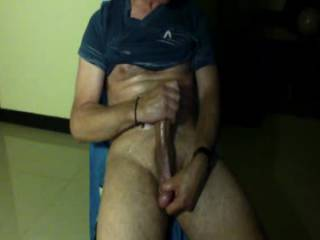Wearing a speedo before stroking my huge cock