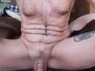 Just hanging around after a good wank