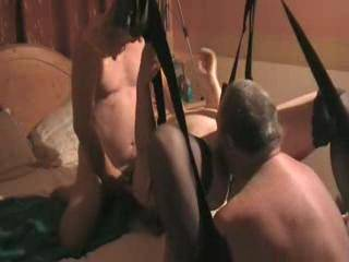 After Robsready had cum we swing Emma round so that she can suck on Rob\'s cock and I can lick all his cum and her juices from out of her hot wet pussy. mmmmmm