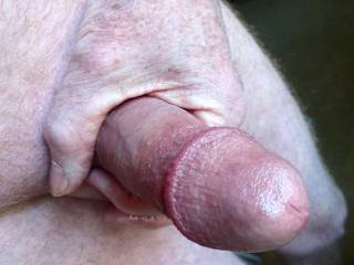 Freshly shaved and oiled for a nice wank.  Who\'d like to help me?