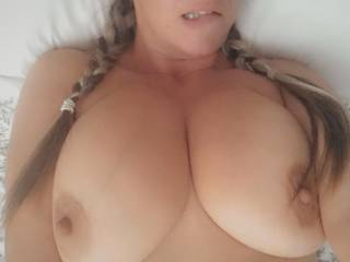 Started off like this… 'you can cum on my tits' 😬