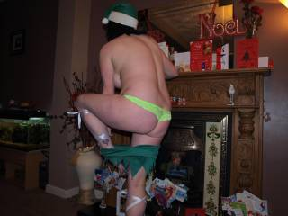 this is the set that got the 3rd most votes......its my sexy santa\'s little helper outfit hope you like the slow strip :-)