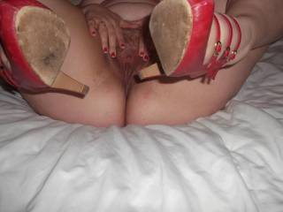 love to be on top of you pounding away at your pussy while you are pushing me down with them shoes digging in to my arse would you like that?