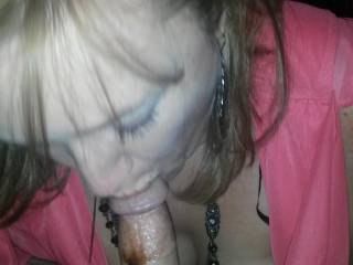 Mmmm She can suck my cock anytime.  Beautiful
