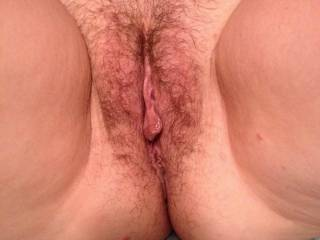She looks delicious. Love her hairy pussy.