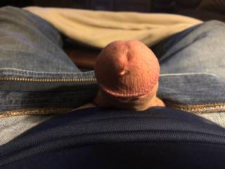 I'm always so horny. It doesn't take long for a little pre-cum to start oozing out.