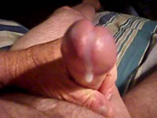 i wish you were pumping that beautiful cockhead in and our of my wife filling her with a nice load of cum like this for me to lick from her pussy