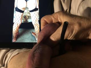 Love squeezing my balls with a cock strap on as I fantasize over sheardo.