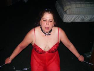 My lady loves to be fed a fat cock while she is bound.  How would you like to lick her pussy while she is chained up? Or let her eat your pussy?
