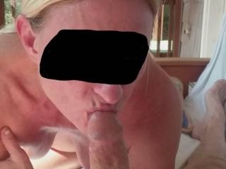 Just a great blowjob , she can take the whole thing