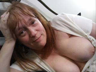 Well? Here\'s another older photo I found that I had not posted. Are you going to take care of this married woman? Fuck my tits! Unload all over them. I need your hard, throbbing cock. Mmm...
