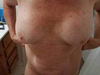 Who wants to cum on these titties?