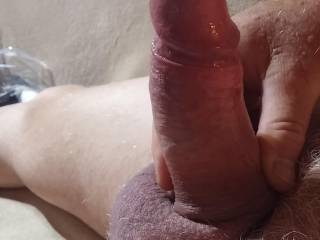 Definetly looks better with my foreskin retracted....