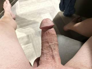 Waiting for the Mrs. to come home with a pussy fill of cum.